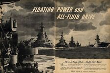 1945 Dodge PRINT AD U.S. Navy Afloat Destroyers Aircraft Carriers Picture