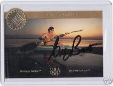 1996 UD OLYMPIC CHAMPIONS GREG BARTON AUTOGRAPH CARD