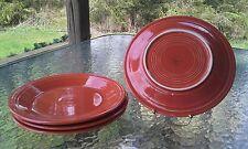 """4 DINNER PLATES set lot Paprika HOMER LAUGHLIN FIESTA WARE 10.5"""" NEW"""