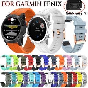 Silicone Sport Watch Band Strap For Garmin Fenix 6/6S/6X Pro 5/5S/5X Plus 3/3 HR