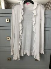 Lilly Pulitzer White Ruffle Open Front Cardigan Size XS