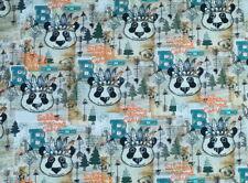 (EUR 19,90/m) Baumwolljersey Jersey Panda- Indianer Digital  0,50mx1,50m(Art1769