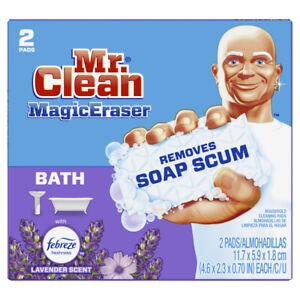 Mr. Clean Magic Eraser Non-Scratch Eraser Sponge For Bath and Tile 2 Ct 52054