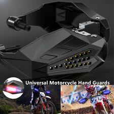 Motorcycle Hand Guards Rainproof Board w/ Lights Windproof Windshield Left+Right