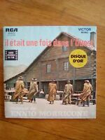 45T vintage E.MORRICONE - IL ETAIT UNE FOIS DANS L'OUEST - L'HOMME A L'HARMONICA