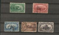 1898 Trans Mississippi Issues Scott # 285, 286, 288, 289, 290 Used, some faults