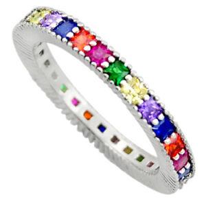 925 Silver 1.94cts Purple Amethyst Quartz Sapphire (lab) Ring Size 7 C10044