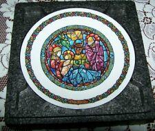 Noel Vitrail Series 1976,77,78,79 D'ARCEAU LIMOGES 4 Porcelain Plates