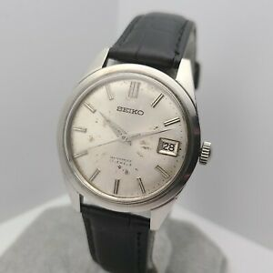 Vintage SEIKO 6602-8050 Men's Manual wind watch 17 jewels date 1968