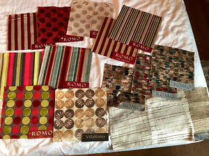 "ROMO 15 pieces Mixed Lot Velvet 8"" Square Fabric Samples"