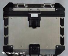 BMW R1200GS 2014+ Adv Truck Top Box Corner Reflective Tape kit BLACK Chevrons