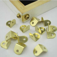 100 Pcs Metal Small L Corner Brace Plate Angle Picture Frame with Screw DIY