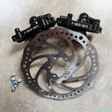 Mountain Bike Mechanical Bicycle Front Rear Disc Brake Caliper Kits 160mm Rotors