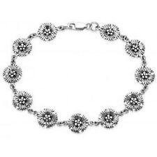 Sterling silver Celtic flower bracelet