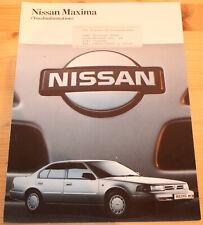 Prospekt Nissan Maxima 1989