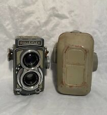 ROLLEIFLEX GREY BABY TLR TWIN LENS CAMERA WITH CASE