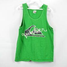 Vintage Quiksilver Mens Medium Spell Out Sleeveless Tank Top Shirt Green Cotton