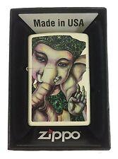Zippo Custom Lighter Hindu Elephant God Lord Ganesha Religious Spiritual Logo