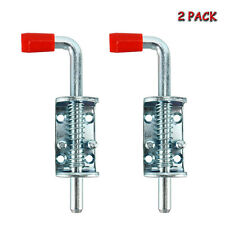 2 Pcs Heavy Duty Spring Pin Latch Lock Metal Lock Barrel Bolt for Trailer Gate