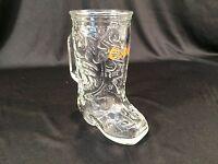 """Vintage Coors Beer Cowboy Boot Beer Mug Glass 6"""""""