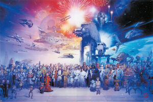 STAR WARS: EPISODE I-VI - GALAXY - MOVIE POSTER / PRINT (ALL CHARACTERS)