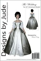 "Outlander Claire Wedding Dress Pattern for 22"" American Model Dolls Poldark"