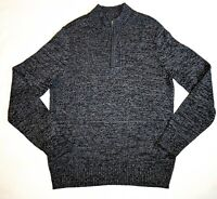 Urban Pipeline 1/4 Zip Sweater Dark Heather Gray Mock Turtleneck Mens Size Large