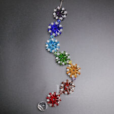 Chakra Crystal Glass Rainbow Suncatcher Hanging Ornament for Party Home Decor