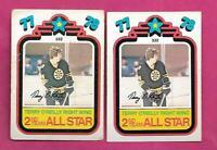 2 X 1978-79 OPC # 332 BRUINS TERRY OREILLY  ALL STAR CARD (INV# C3878)