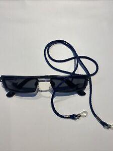 HUMPHREYS Sonnenbrille Orig. Fassung blau ,Gläser grau, Mit Brillenband
