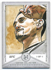 2019 Topps UFC Museum Collection MAX HOLLOWAY 1/1 Sketch Card AP Ted Dastick Jr