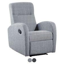 Sillón reclinable cómodo sillon relax moderno  Bali Gris Marengo o Pearl, Home