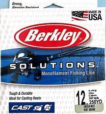 Berkley Solutions Monofilament 12 Lb Green Mist Fishing Casting Line