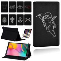 Printed Flip Smart Stand Case Cover ForSamsung Galaxy Tab A 8.0 /9.7 /7.0 + Pen