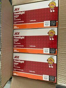 Ace 65 Watt Indoor Floodlight Incandescent Light Bulb  3-2pks 6 Bulbs 600 Lumens