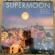 Supermoon 2021 Wall Calendar Super Moon 2021 Calendar Supermoon Photography