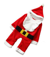 StylesILove Toddler Young Kids Baby Boy 3-PC Santa Suit Romper, Hat and Bib