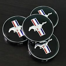 4PC SET Ford Mustang Cobra GT Black Horse Wheel Rim Center Hub Caps Hubcaps 60MM
