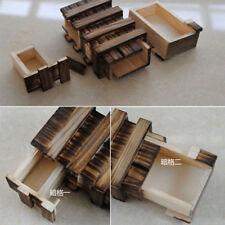 Wooden Japanese Yosegi Secret Steps Japan Hakone Bako Trick Wood 10 Puzzle Box