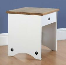 CORONA WHITE AND DISTRESSED WAXED PINE DRESSING TABLE STOOL *NEXT DAY DELIVERY