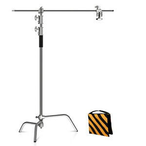 Photography Studio Heavy Lighting Century C Stand Folding Legs,Grip Head,Arm Kit