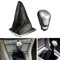 5 Speed Gear Shift Knob Stick Gaiter Boot Cover PU For Ford Focus MK2 2005-2012