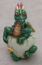 "Baby Dragon Hatching 3 3/4"" Green Resin"