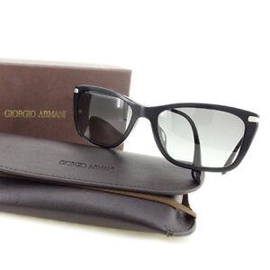 Giorgio Armani sunglasses Black Silver Woman unisex Authentic Used T2381