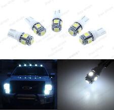 5Pcs White Roof Cab Marker Light Lens T10 LED for 1980-1987 Chevy C50 C60 C70
