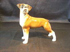"""TOKEN DOG FIGURINE OF A BOXER - GOOD CONDITION - 7.5"""" TALL - STAFFORDSHIRE"""