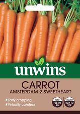 Unwins Pictorial Packet - Carrot Amsterdam 2 Sweetheart -1200 Seeds