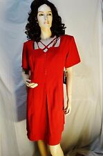 Jamie Brooke Red dress Size 18 professional,sexy vintage