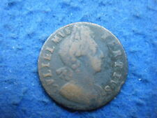 RE GUGLIELMO III: 1700 RAME Mezzo Penny-Bel ritratto, MONETA RARA!