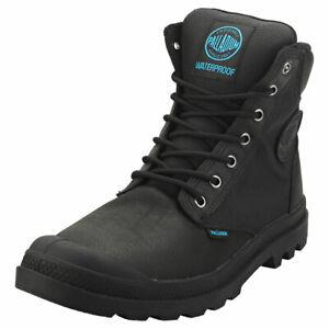 Palladium Pampa Sport Cuff Wpn Unisex Black Leather & Textile Casual Boots
